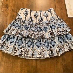 Caroline Constas Tiered Mini Skirt Sz Small